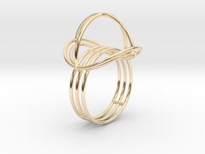 VESICA PISCIS Ring Nº2 in 14K Yellow Gold