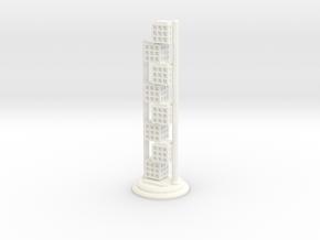 Chess Set Bishop  in White Processed Versatile Plastic