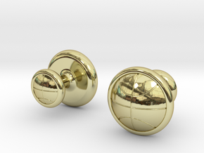 BASKETBALL CUFFLINKS 1 in 18k Gold Plated Brass
