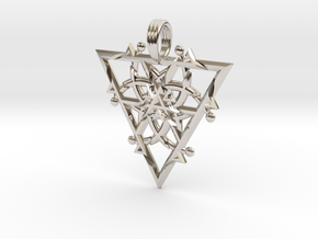 FIRESPIKE in Rhodium Plated