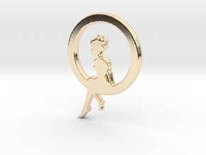 Girl In A loop Pendant in 14K Gold
