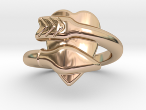 Cupido Ring 14 - Italian Siize 14 in 14k Rose Gold Plated Brass