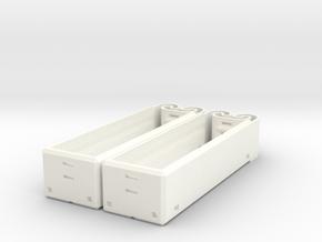 18650 Dual Holder in White Processed Versatile Plastic