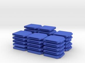 Chess Set Board Blue (PART 3) in Blue Processed Versatile Plastic