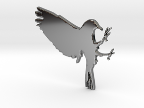 Bird Pendant in Fine Detail Polished Silver