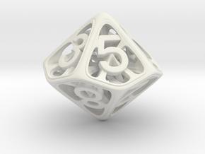Hedron Dice Set in White Natural Versatile Plastic: d10