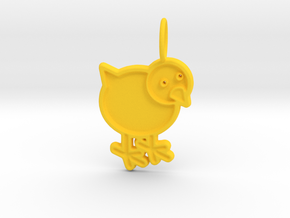 Chicken Pendant in Yellow Processed Versatile Plastic