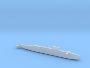 HMS Resolution SSBN, Full Hull, 1/1800 in Smooth Fine Detail Plastic