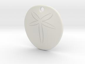 Sand Dollar Steel 30mm in White Natural Versatile Plastic