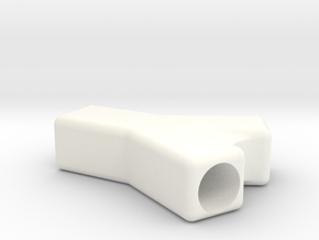 Double Barrel Hitter  in White Processed Versatile Plastic