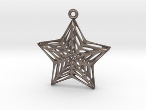 Star Voronoi in Polished Bronzed Silver Steel