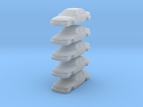 ho scale 1998-2000 toyota corolla 5 pack in Smooth Fine Detail Plastic