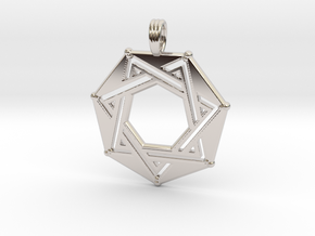SEPTAGRAM (FRAME) in Rhodium Plated