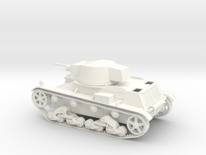 WIP Polish light tank 7TP 1939 1:48 28mm wargames in White Strong & Flexible Polished