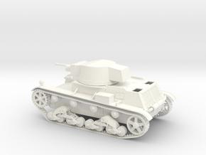 VBP Polish light tank 7TP 1939 1:48 28mm wargames in White Processed Versatile Plastic