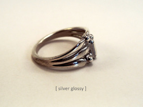 Marudai ring in Polished Silver