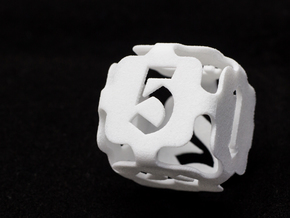 Big die 6 / d6 24mm / dice set in White Strong & Flexible