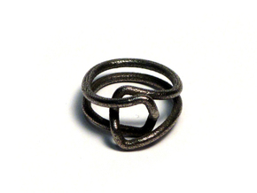 Loop size 7 in Polished Bronzed Silver Steel