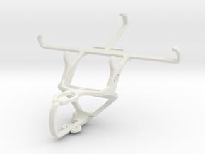 Controller mount for PS3 & Motorola Moto X (2014) in White Natural Versatile Plastic
