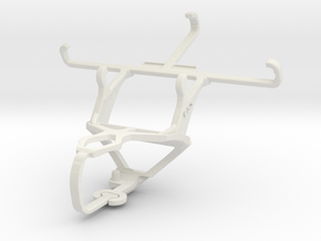 Controller mount for PS3 & Samsung I9190 Galaxy S4 in White Natural Versatile Plastic