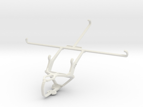 Controller mount for PS3 & Samsung Galaxy Tab 4 8. in White Natural Versatile Plastic