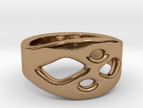 Frohr Design Ring Easy Style in Polished Brass