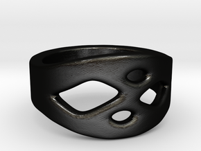 Frohr Design Ring Easy Style in Matte Black Steel