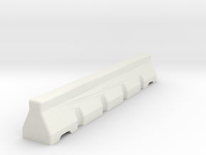 Concrete Road Block 6mm Scale in White Natural Versatile Plastic