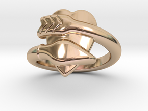 Cupido Ring 19 - Italian Size 19 in 14k Rose Gold Plated Brass