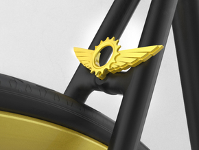 Wings & gear in Yellow Strong & Flexible Polished