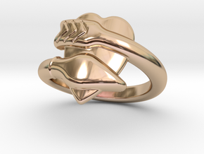 Cupido Ring 21 - Italian Size 21 in 14k Rose Gold Plated Brass