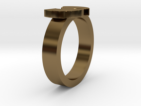 Wu Ring 17mm (Inner Diameter) in Polished Bronze