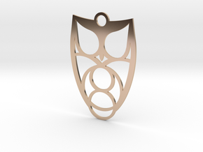 Owl #1 (thin version) in 14k Rose Gold Plated Brass