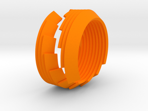 Custom 18mm inner diameter ring in Orange Processed Versatile Plastic