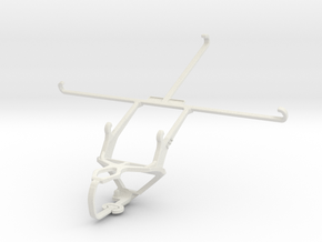 Controller mount for PS3 & Asus ZenPad S 8.0 Z580C in White Natural Versatile Plastic