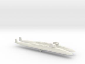 USS Lafayette SSBN x 2, 1/2400 in White Natural Versatile Plastic
