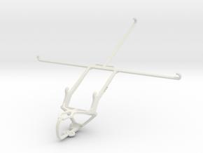 Controller mount for PS3 & Dell Venue 10 7000 in White Natural Versatile Plastic