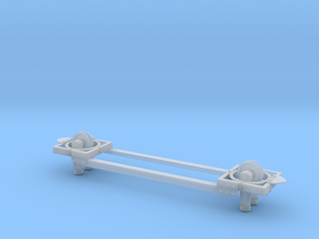 Monorail Unpowered Basic Frame in Smooth Fine Detail Plastic
