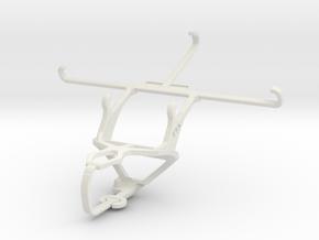 Controller mount for PS3 & Lenovo Vibe Z2 Pro in White Natural Versatile Plastic