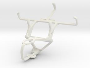 Controller mount for PS3 & Motorola Moto E Dual SI in White Natural Versatile Plastic