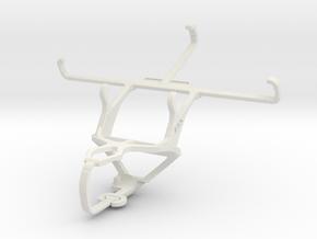 Controller mount for PS3 & Motorola Moto X Play in White Natural Versatile Plastic