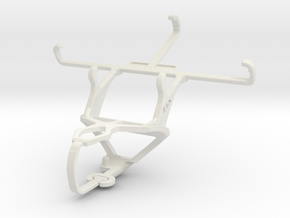 Controller mount for PS3 & Samsung Galaxy Core LTE in White Natural Versatile Plastic