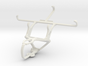 Controller mount for PS3 & Sony Xperia M2 Aqua in White Natural Versatile Plastic