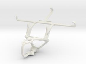 Controller mount for PS3 & Sony Xperia M4 Aqua in White Natural Versatile Plastic