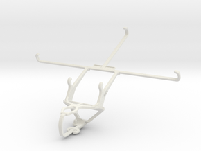 Controller mount for PS3 & Samsung Galaxy Tab Acti in White Natural Versatile Plastic