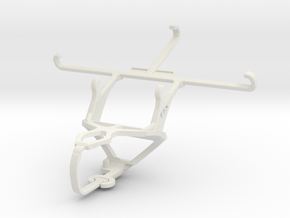 Controller mount for PS3 & XOLO Cube 5.0 in White Natural Versatile Plastic