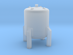 N Scale Small vertical tank in Smooth Fine Detail Plastic