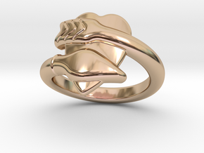 Cupido Ring 26 - Italian Size 26 in 14k Rose Gold Plated Brass