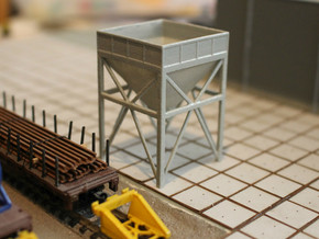 N Scale Aggregate Hopper #1 in White Natural Versatile Plastic