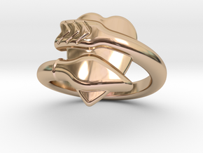 Cupido Ring 28 - Italian Size 28 in 14k Rose Gold Plated Brass